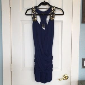 Gorgeous navy party dress with lace/stud detail 😍